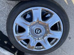 """Set Of 4 19"""" Bentley Continental Wheels And Tires 275/40zr19"""