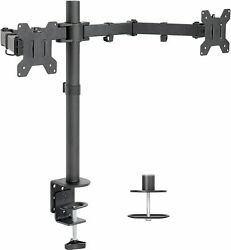 Dual Monitor Desk Mount Stand Heavy Duty Fully Adjustable Screens Up To 32