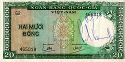 Edward Ted Kennedy Signed Vietnam Currency - October 28, 1965