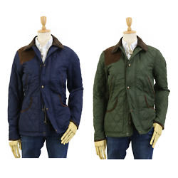Polo Womenand039s Quilted Jacket Coat W/ Leather - 2 Colors -
