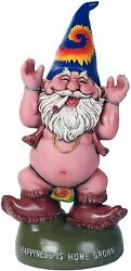 Pacific Giftware Free Spirited Pot Smoking Happiness Is Home Grown Garden Gnome
