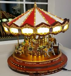Vintage Mr Chistmas 2012 Gold Label Diamond Jubilee Musical Lighted Carousel
