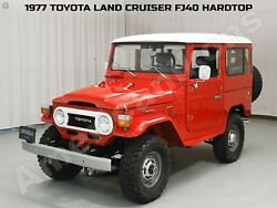 1977 Toyota Fj40 Land Cruiser Hardtop New Metal Sign Fully Restored In Red