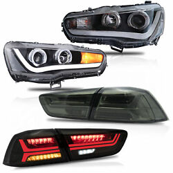 Led Sequential Headlight Turn Signal Taillight For 20082017 Mitsubishi Lancer