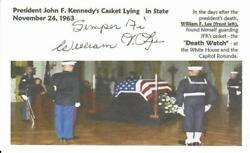 Kennedy Death Watch William Lee Signed 3x5 Picture Card Todd Mueller Coa
