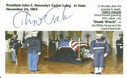 Kennedy Death Watch Tom Tallick Signed 3x5 Picture Card Todd Mueller Coa