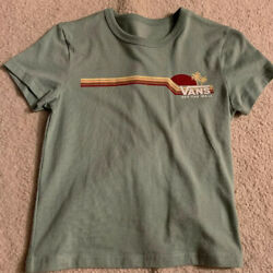 NEW Vans Off The Wall Baby Tee Womans XS Green
