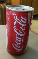 Vintage Soda Can Empty Collectible Coke Coca-cola Opened At Bottom St Paul Mn