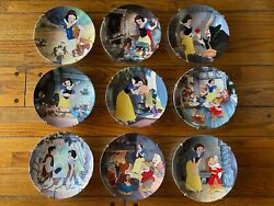 A Snow White And The Seven Dwarfs Knowles Collector Plates Set Of 9 Limited Ed