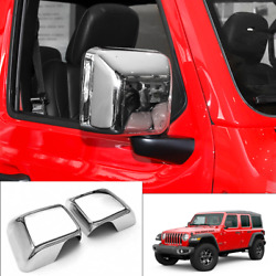 Chrome Car L And R Rear View Mirror Cover Trim Fits For 2018-2020 Jeep Wrangler Jl