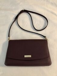 Kate Spade NWOT Eggplant Aubergine Convertible Crossbody Clutch Evening Handbag $54.99