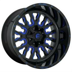 4 New 20x10 Fuel Stroke Gloss Black Blue Tinted Clear 5x114.3 D64520002647