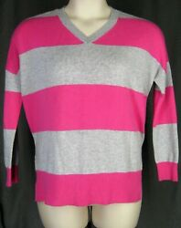 Pure Amici 100 Cashmere Women Size 1 Pink Gray