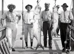 Antique Reproduction Saltwater Tarpon Fishing Photograph Rods Reels