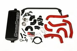 Grimmspeed Front Mount Intercooler Kit Black Core / Red Pipe For 2015+ Sti