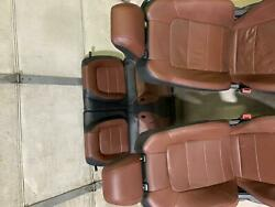 2015-2017 Ford Mustang Seat Set Brown Leather Heated And Cooled Power