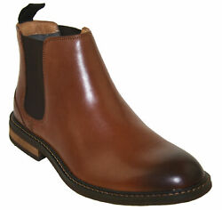 Vionic Menand039s Bowery Kingsley Chelsea Boot Chestnut