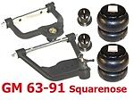 L Larry-gm6387-2 1963-1987 Chevy C10 Upper/lower Control Arms/bags/mount