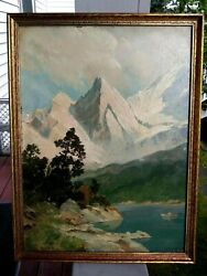 Antique Americana This Listed German/american Artist Henry Goering 1871 - 1944