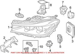 Genuine Oem Right Headlight Assembly For Bmw 63117408712
