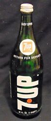 Vintage Collectible 7up Glass Bottle 32 Oz