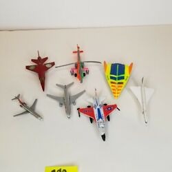 Toy Jet Airplanes Cast Metal Yellow Gray Orange Orient Airlines Air Force Lot 7