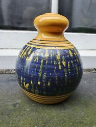 Vintage 1960-1979 Rye East Sussex Studio Pottery Hand Painted Table Lamp Base