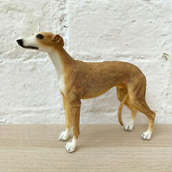 Standing Tan Greyhound Puppy Dog Pet Ornament Statue Figurine Resin Gift Large