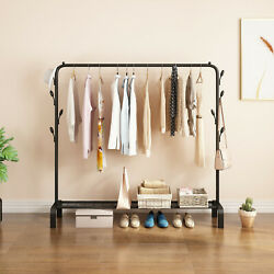 Closet Organizer Metal Garment Rack Portable Clothes Hanger Storage Shoes Rack 2