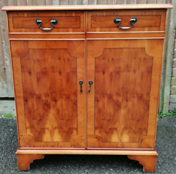 Vintage Great Yew Retro Computer Cupboard Second Hand