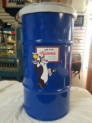 Hamms Beer Vintage Style Tribute 16 Gall Cold Rolled Steel Trash Can Muscle Car
