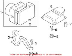 Genuine Oem Abs Hydraulic Assembly For Bmw 34516891615