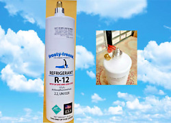 R12, R-12, Refrigerant With Uv Dye And Stop Leak Pro Sealxl4, 28 Oz. Recharge Kit