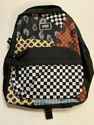 Vans New Realm Classic Backpack Women#x27;s OSFA Floral Patchwork $29.99