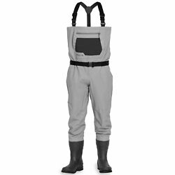 New Mens Orvis Clearwater Felt Bootfoot Wader In Size Large With 10 Boots