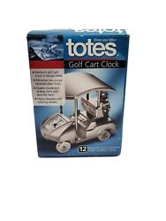 Totes Golf Cart Clock Canaopy Clubs Watch $11.94
