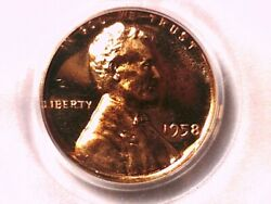 1958 P Lincoln Wheat Cent Pcgs Ms 67 Rd Cam 21738004 Proof Coin Pcgs Error Label