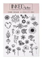 NEW Inked by Dani Flower Temporary Tattoos Page 26 Small Black Tattoos