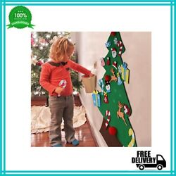 Christmas Tree Set With Ornaments For Kids Felt Wall Hanging Decorations New