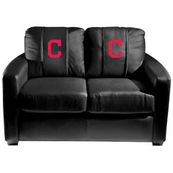 Cleveland Indians Mlb Silver Love Seat