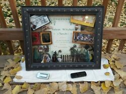 Rare Salem Witch Trials Shadow Box - R/c Lights And Audio Antique 1898 Sheet Music