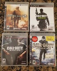 Lot Of 4 Sony Playstation 3 Ps3 Call Of Duty Video Game Bundle Mw2 Mw3 Bo War