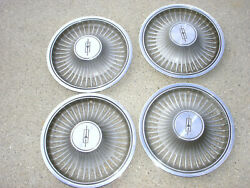 Vintage 1972-1973 Oldsmobile Olds Cutlass Metal 4 Hubcaps 14 1970s Gm