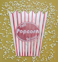 Giant Popcorn Box With Prop Party Sign Vintage Retro Style C1