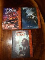 ☆ New White Wolf Lot Of 3 Books With Bruises Esthetic Flaws On Outside Only