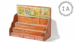 Antique Campbells Varnish Stains General Store Countertop Advertising Display