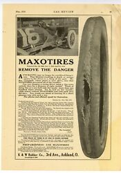 1916 Maxotires Ad K And W Rubber Co., Ashland, Ohio - Ray Campbell Race Driver