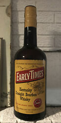 Early Times Whiskey Display Bottle Sign Kentucky Whisky Old Vintage Gallon