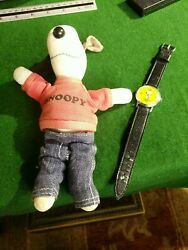 Rare Vintage 1960s Fabric Snoopy With Red Sweatshirt And Jeans Doll Soft Toy