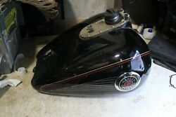 1999 Harley Davidson Flhtcui Black Gas Tank With Cap And Fuel Pump Free Shipping